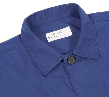 Universal Works Bakers Overshirt - Blueprint Poplin