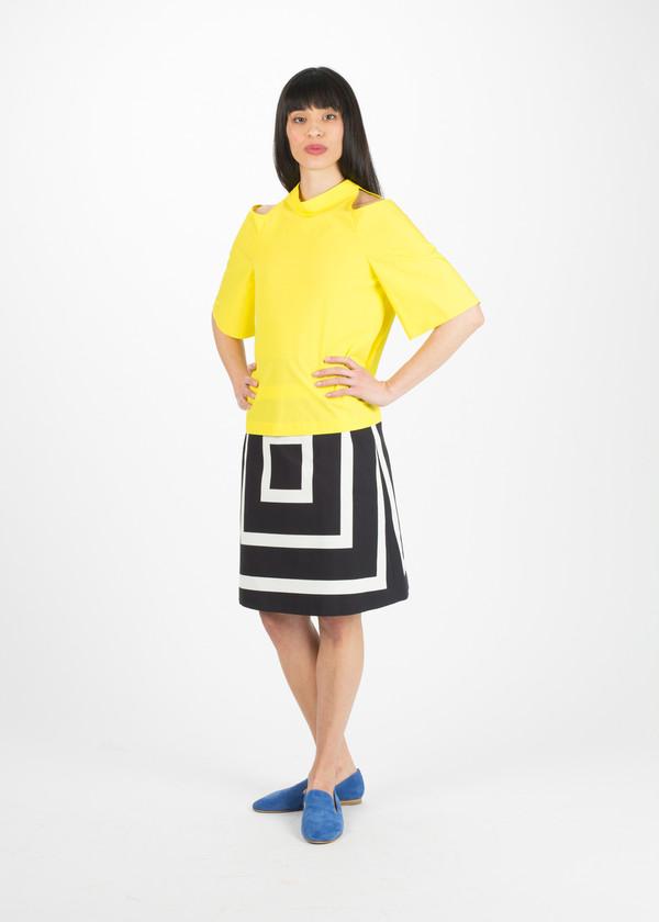 Odeeh A-Line Box Print Skirt