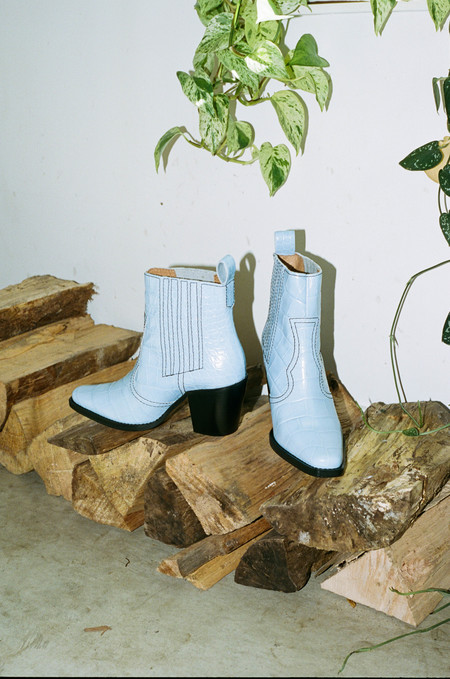 Ganni CALLIE BOOTS - HEATHER BLUE