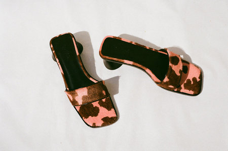 By Far Sonia Mules - Pink Cow