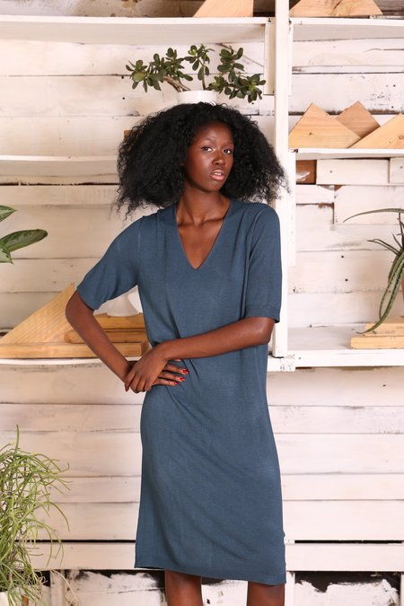"""INTENTIONALLY __________."" Yulia Dress - Teal Knit"