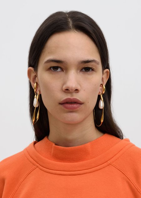 Ambush Sculpture Earring Pair - Gold