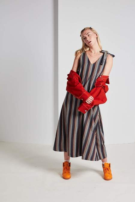 Kowtow Knotted Tie Dress - Stripes