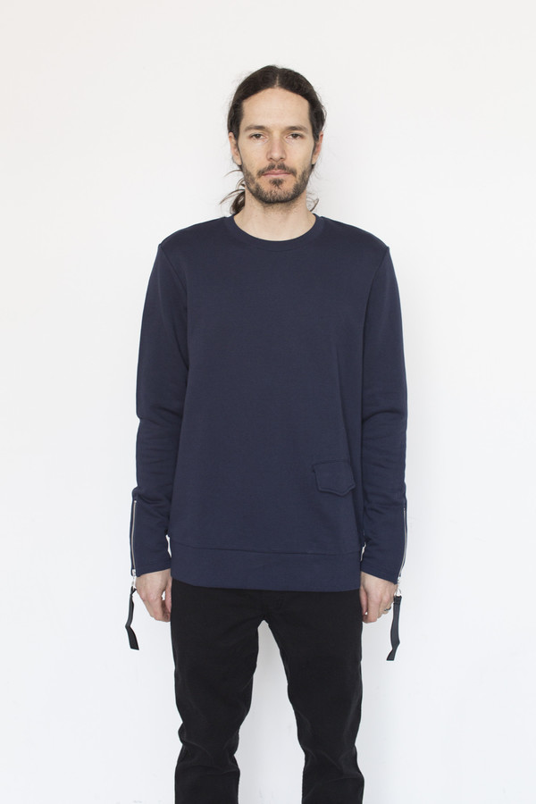 Matthew Miller Cotton Rogue Biker Sweatshirt
