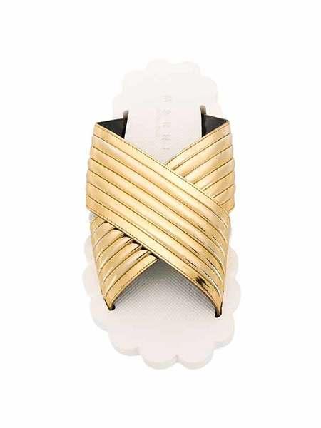 Marni LEATHER SANDAL - GOLD