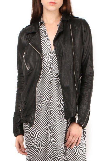 Giorgio Brato Distressed Leather Jacket - Nero