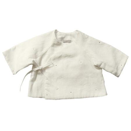 KIDS Makié Mille Jacket - Cream With Blue Dots