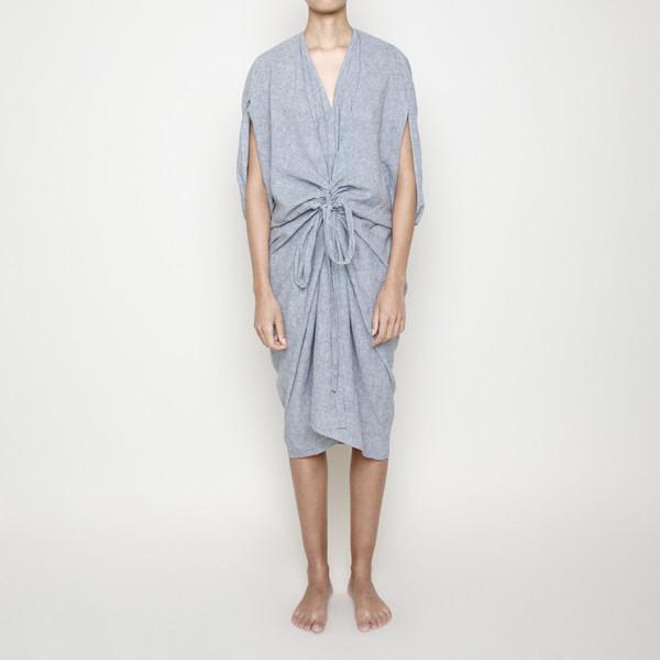 7115 by Szeki Kimono Dress- Stripe SS16