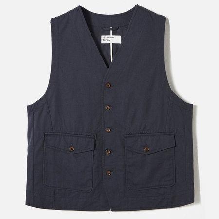 Universal Works Field Waistcoat - Navy Twill