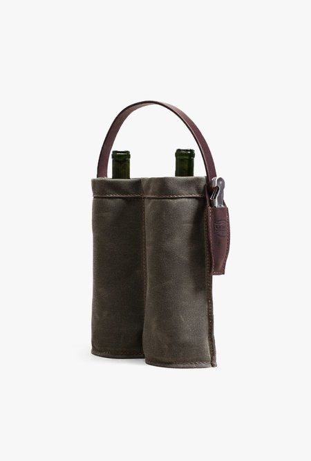 Orox Leather Co. Wine Caddy - Green