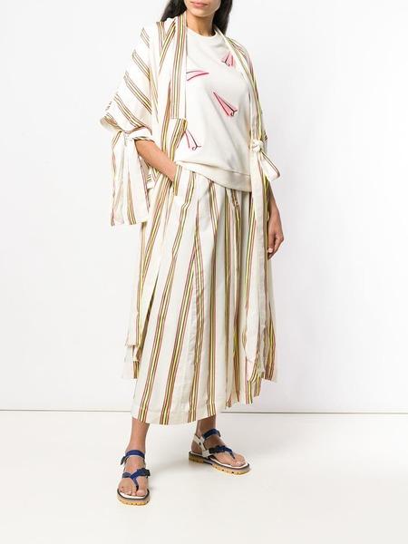 Henrik Vibskov Pound Pants - Cream Multi Stripes