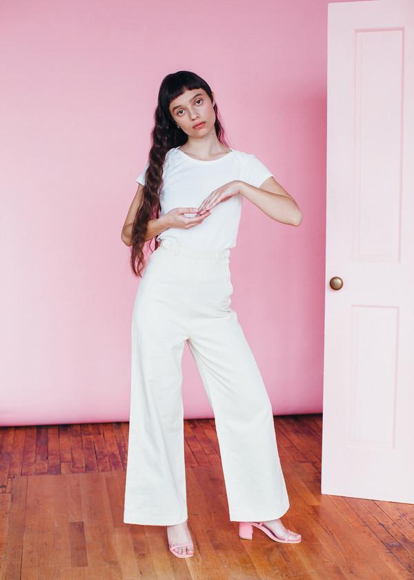 Samantha Pleet Baby Tee - Ivory