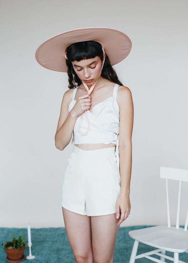 Samantha Pleet Curtain Shorts - Ivory