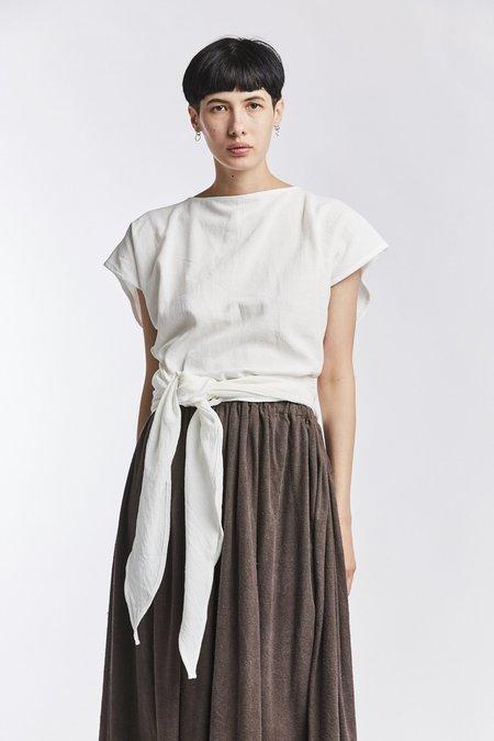 Miranda Bennett Textured Cotton Hassinger Top - White