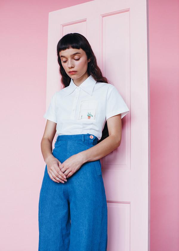 Samantha Pleet House Shirt - Ivory