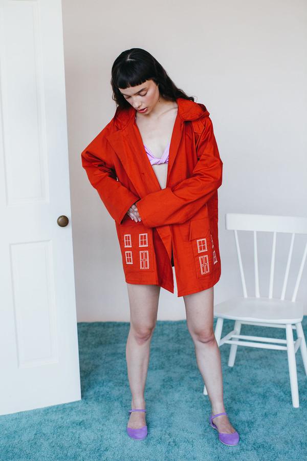 Samantha Pleet Village Jacket - Red