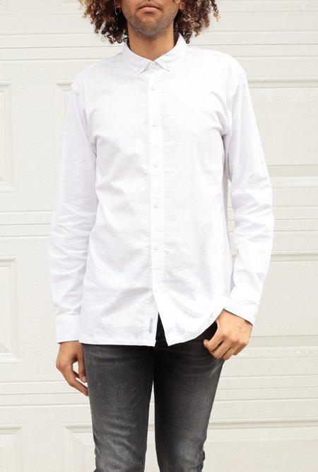 Publish Long Sleeve Button Up - White