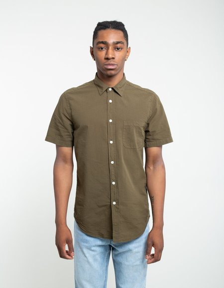 88da805ef52e ... Portuguese Flannel Atlantico Short Sleeve Shirt - Olive