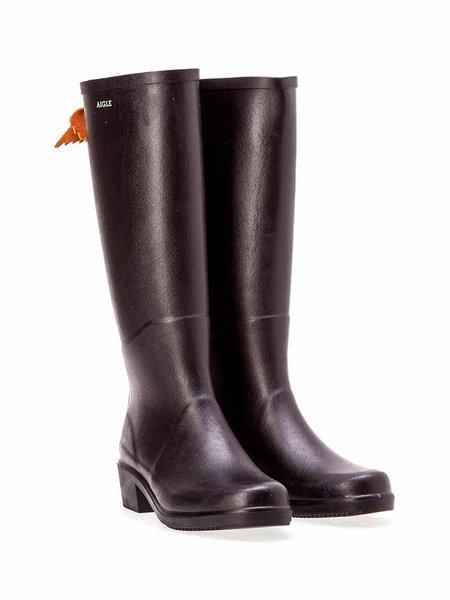 aigle miss juliette a rain boot - black