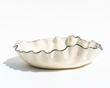 Nathalee Paolinelli Large Black Rim Porcelain Bowl