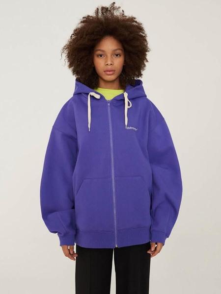 Ader Error Diagonal A Hoodie - Purple