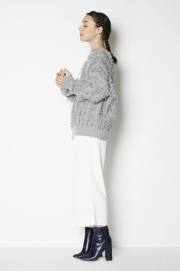 J.O.A. Fringe Sweater