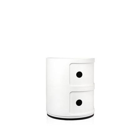 Kartell Componibili 2 Drawer Tower - White