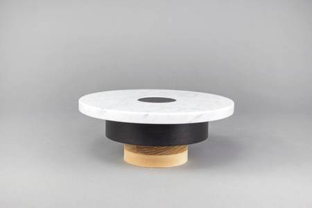 Souda Wood and Marble Pedestal (Mid)