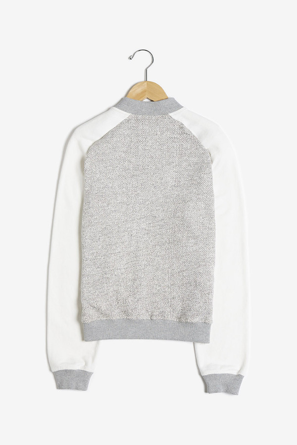 Shades of Grey Knit Bomber Jacket
