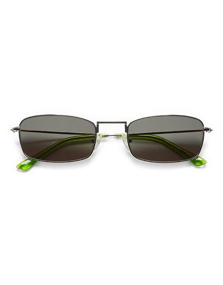 Sun Buddies E-40 Sunglasses - Silver/Gremlin Green