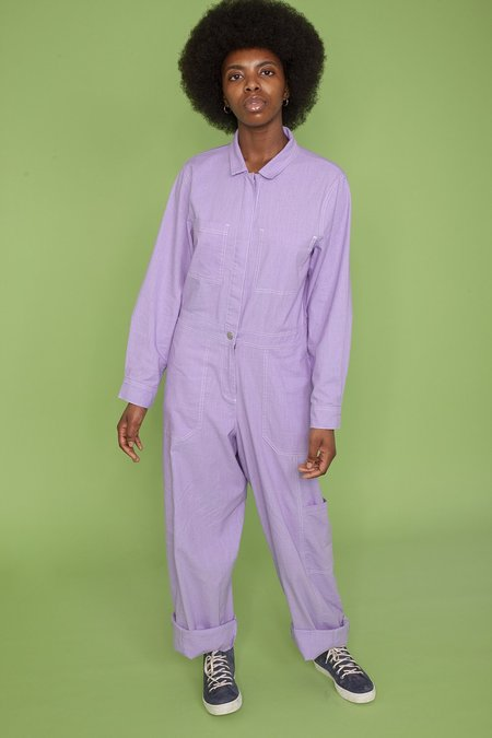 L.F.Markey Markey Collection Classic Boilersuit - Lilac