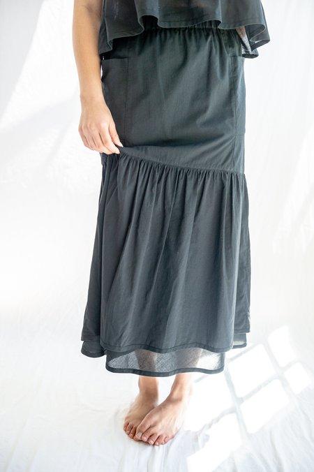 Tsuyumi Cotton Skirt - Black