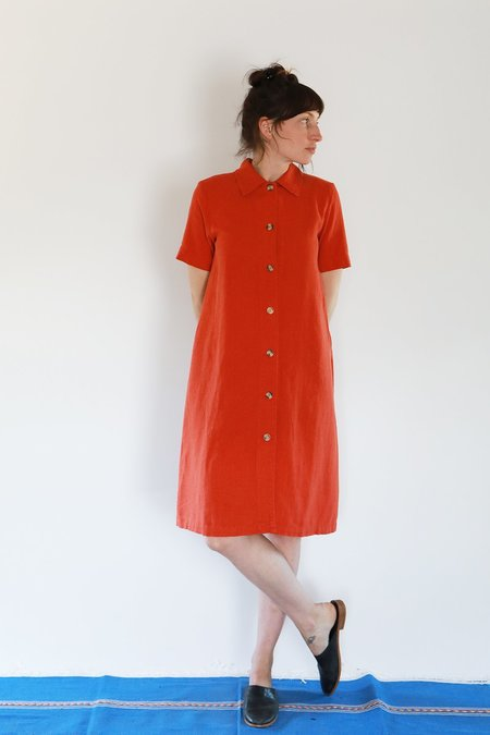 Me & Arrow SS LONG DRESS JACKET - CAYENNE RED