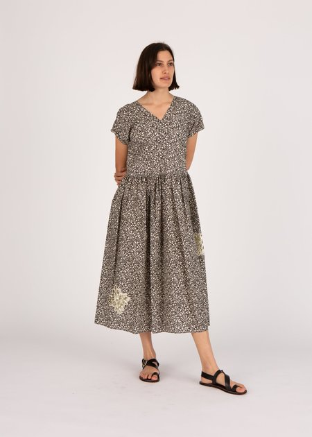 Caron Callahan Pico Dress - Black Floral