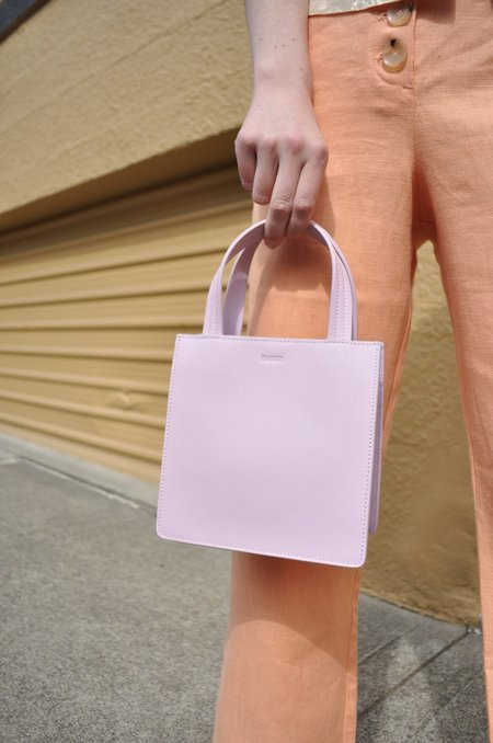 Baggu Small Leather Retail Tote - Pale Orchid
