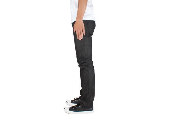 Men's Unbranded Skinny Fit Black Selvedge