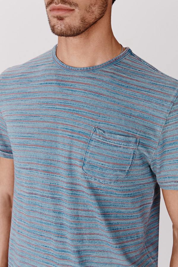 Men's Faherty Stripe Pocket Tee