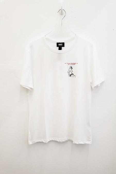 DUST STYLE A SKULL FACE t-shirt - White