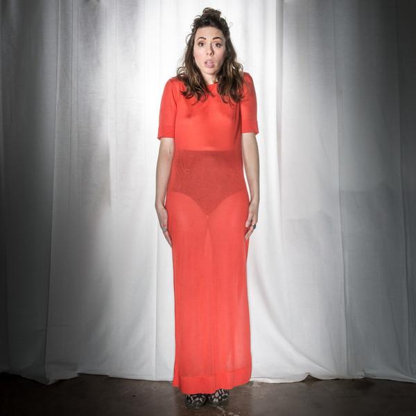 34N 118W Sheer Column Dress