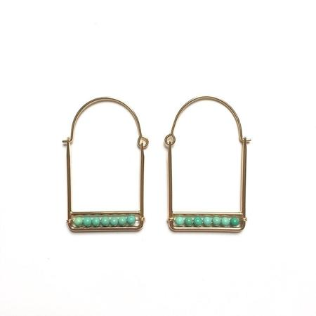 Goldluxe Jewelry Mina Hoops - Turquoise