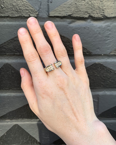Love Adorned Vintage Diamond Open Ring