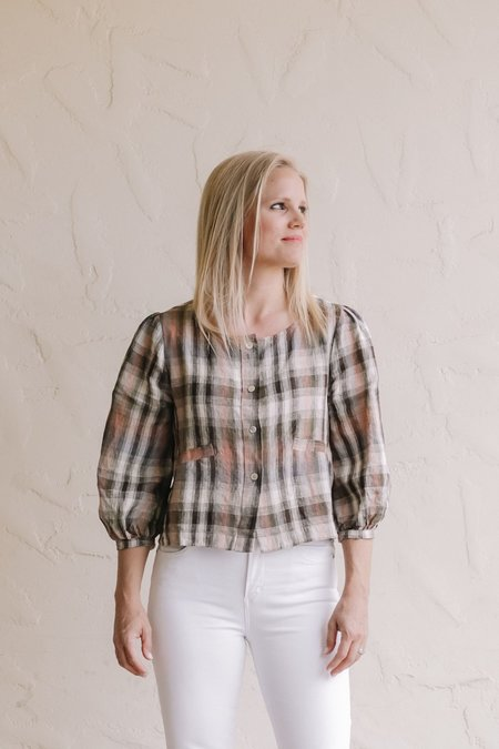Sugar Candy Mountain Daisy Top - Plaid