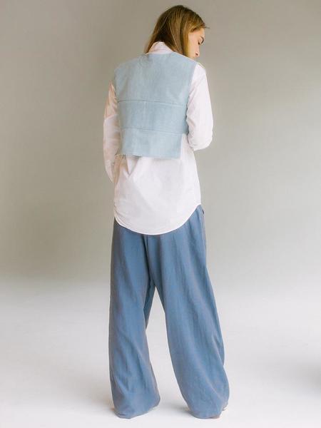 Nancy Stella Soto U Neck Shirt - Light Blue