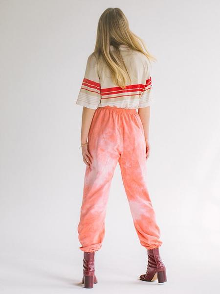 Audrey Louise Reynolds Organic Cotton Sweatpants - Red/Pink