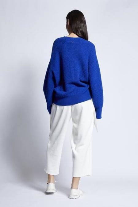 UNISEX Oyuna Giada Cashmere/Cotton Knitted Pullover - Lapis Blue