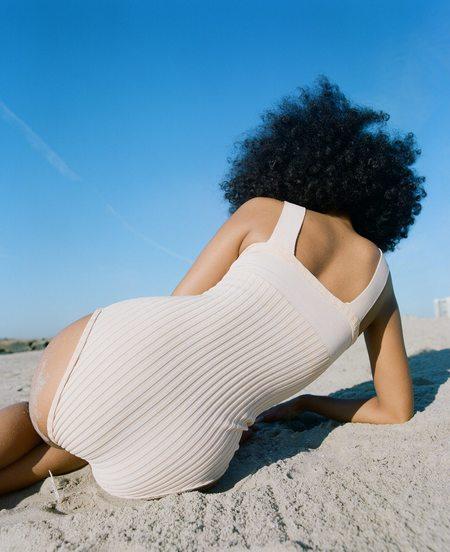 Deta Knitted Swimwear One Piece - Scallop