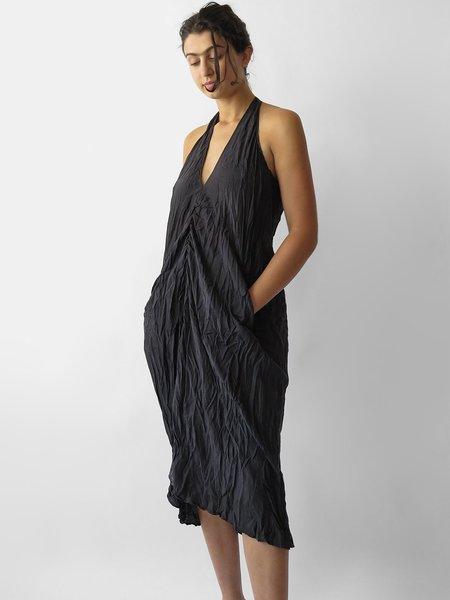 Hazel Brown Sleeveless Dress - Black