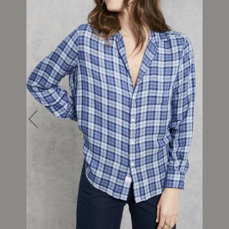 Frank & Eileen Eileen Italian Modal Classic Plaid Shirt - Navy/Light Blue