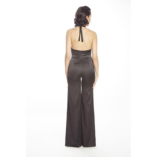 Posh Couture Stretch Satin Jumpsuit