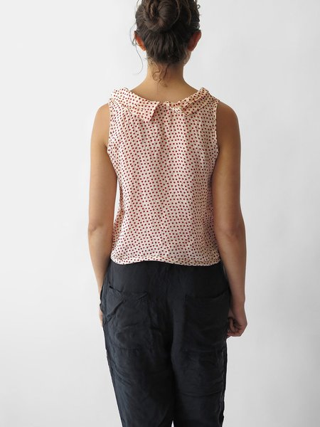 Hazel Brown Collared Blouse - All Dots